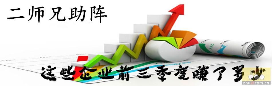 """""""二师兄""""助阵,企业前三季度赚多少?"""