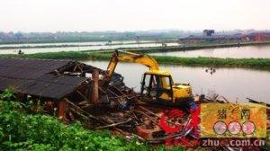 广东惠州博罗龙溪拆除猪舍面积78000多平方米