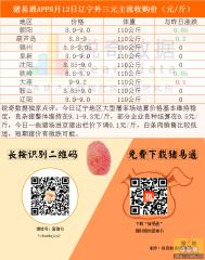 猪易通APP8月12日辽宁地区猪价地图--稳中有跌