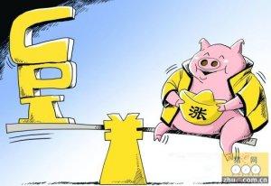 """8月江苏cpi同比上涨1.8% 猪肉""""坐上""""直升机猛涨16.6%"""