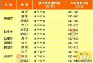 广东2016年1月16日行情信息