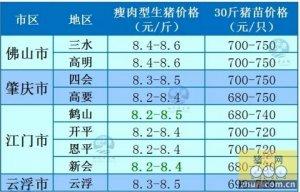 牧之源--广东1月18日猪价