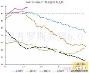 【行情】各种数据综合计算分析表明,毛猪价格走势进入2013年走势了!