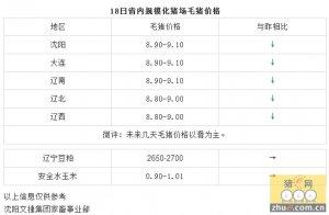 【文捷集团】2月18日辽宁省内猪评:未来几天毛猪价格以滑为主