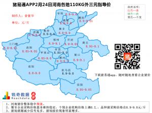 猪易通APP02月24日河南地区外三元价格地图
