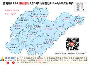 猪易通APP3月04日山东外三元价格地图