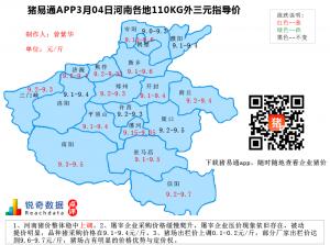 猪易通APP3月04日河南地区外三元价格地图