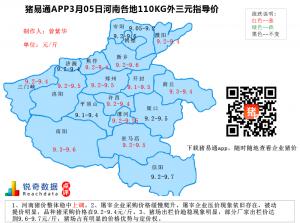 猪易通APP3月05日河南地区外三元价格地图
