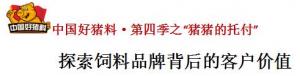 """中国好猪料・第四季之""""猪猪的托付"""""""