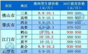 牧之源-广东3月20日猪价信息