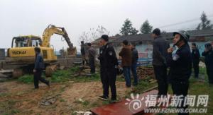 闽清白中拆除11处小型养猪场 腾出四千平米山地