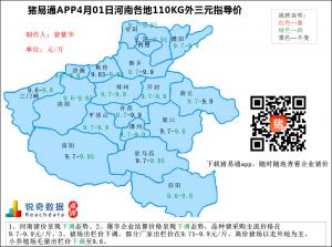 猪易通APP4月01日河南地区外三元价格地图