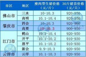 牧之源--广东4月6日猪讯
