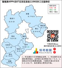 猪易通APP4月07日河北外三元价格地图