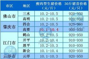 牧之源--广东4月11日猪讯