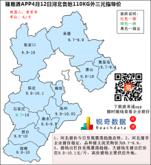 猪易通APP4月12日河北外三元价格地图