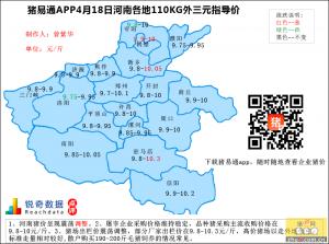 猪易通APP4月18日河南外三元价格地图