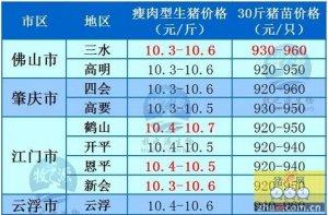 牧之源--广东4月18日猪讯