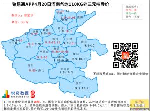 猪易通APP4月20日河南外三元价格地图