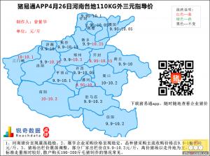 猪易通APP4月26日河南外三元价格地图