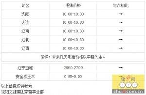 【文捷集团】28日辽宁省猪评:未来几天毛猪价格以平稳为主