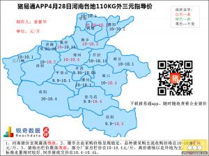 猪易通app4月28日河南外三元价格地图