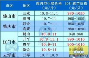 牧之源--广东4月28日猪讯