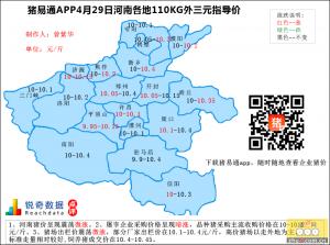 猪易通app4月29日河南外三元价格地图