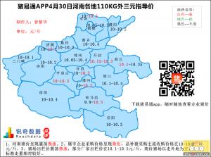 猪易通app4月30日河南外三元价格地图