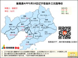 猪易通app5月18日辽宁外三元价格地图--稳定为主