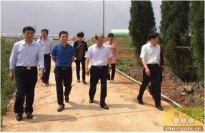 河南省农业厅领导一行来新大牧业考察国家级农业产业化重点龙头企业申报情况