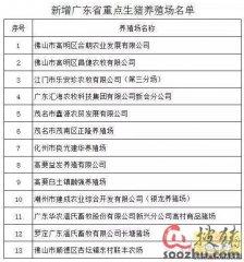 广东20家重点生猪养殖场被摘牌 增补13家