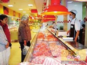 """市民餐桌开始""""苦夏"""" 猪肉销量减少六成"""