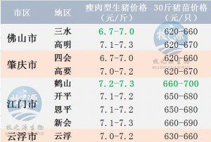 广东2017年5月27日猪