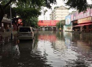 桂林暴雨致16人被困,养猪场被淹
