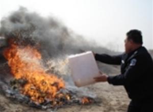 深圳检疫局销毁一批来自台湾的不合格饲料添加剂