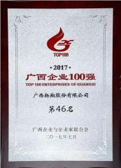 再入百强!热烈祝贺扬翔股份进入2017广西百强企业榜!