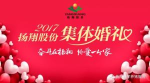 """""""我们结婚啦~""""―扬翔股份2017年集体婚礼隆重举行!"""
