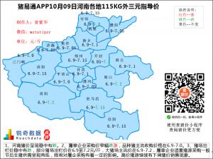 猪易通app10月09日河南猪价走势-稳中有跌