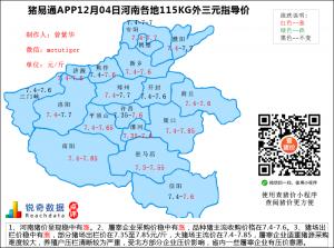 猪易通app12月04日河南猪价走势-稳中有涨