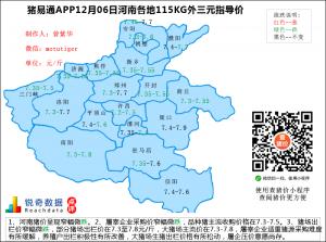 猪易通app12月06日河南猪价走势-窄幅微跌