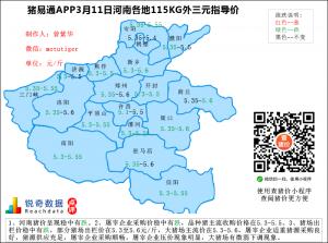 猪易通app3月11日河南猪价走势-稳中有跌