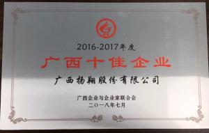 """载誉而归!扬翔荣获""""广西十佳企业""""荣誉称号"""