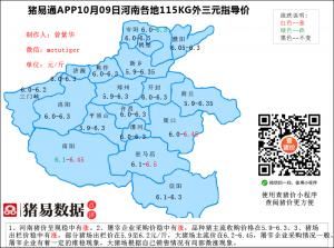 猪易通app10月09日河南猪价走势-稳中有涨
