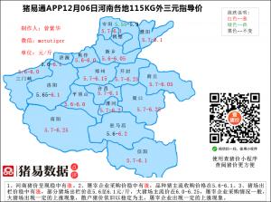猪易通app12月6日河南猪价走势-稳中有涨