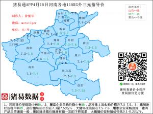 猪易通app19年4月15日河南猪价走势-稳中有跌