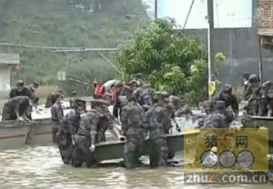 广西:养殖场被淹 一万多头生猪被淹死