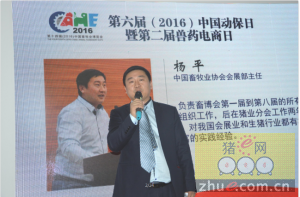 中国畜牧业协会会展部主任杨平先生参加电商日活动