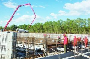 泰来县生猪原种核心场项目正紧张施工建设
