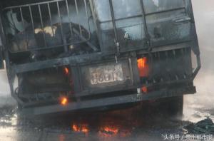 大货失火,96头生猪葬身火海 都是它惹的祸